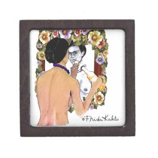 Retrato del EL Espejo del en de Frida Kahlo Cajas De Regalo De Calidad