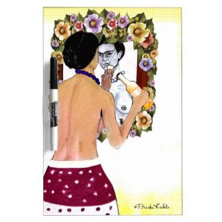 Retrato del EL Espejo del en de Frida Kahlo Pizarras Blancas