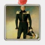 Retrato del emperador Alejandro I 1825 Adorno Navideño Cuadrado De Metal