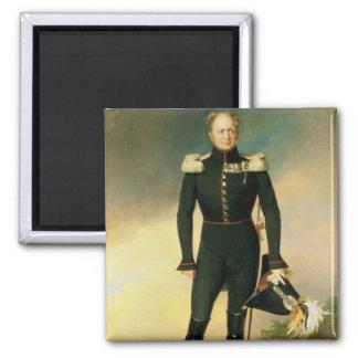 Retrato del emperador Alejandro I 1825 Imán Cuadrado