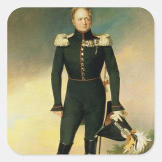 Retrato del emperador Alejandro I 1825 Colcomanias Cuadradass