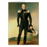 Retrato del emperador Alejandro I 1825 Tarjeta De Felicitación