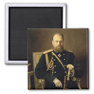 Retrato del emperador Alejandro III 1886 Imán Cuadrado