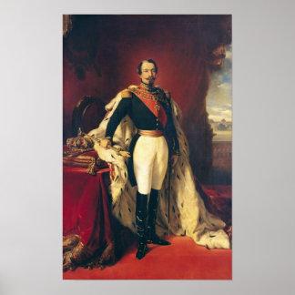 Retrato del emperador de Napoleon III de Francia Póster