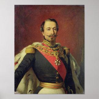 Retrato del emperador Louis Napoleon III Póster