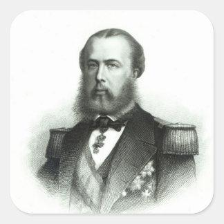 Retrato del emperador Maximiliano de México, 1864 Pegatina Cuadradas Personalizadas