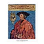 Retrato del emperador Maximiliano I.By Albrecht Dü Tarjetas Postales