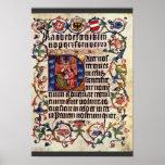 Retrato del emperador Maximiliano I y su profesor  Poster