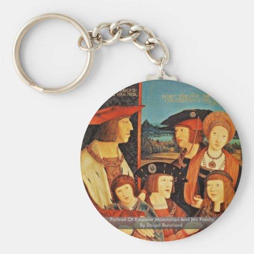 Retrato del emperador Maximiliano y de su familia Llavero Personalizado
