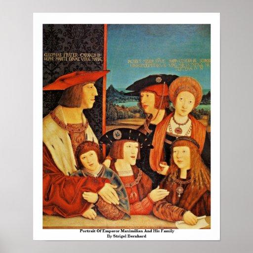 Retrato del emperador Maximiliano y de su familia Impresiones