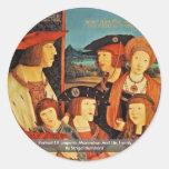 Retrato del emperador Maximiliano y de su familia Pegatina Redonda