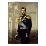 Retrato del emperador Nicolás II, 1900 Tarjeta De Felicitación