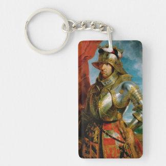 Retrato del emperador romano santo Rubens de Llavero Rectangular Acrílico A Doble Cara