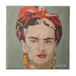 Retrato del en Coyoacán de Frida Kahlo Azulejo Cuadrado Pequeño