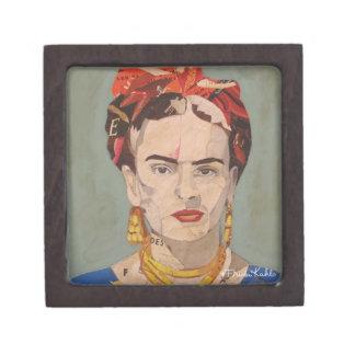 Retrato del en Coyoacán de Frida Kahlo Caja De Recuerdo De Calidad