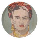 Retrato del en Coyoacán de Frida Kahlo Plato