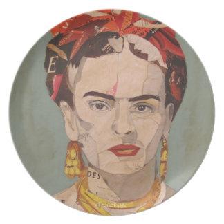 Retrato del en Coyoacán de Frida Kahlo Plato De Cena