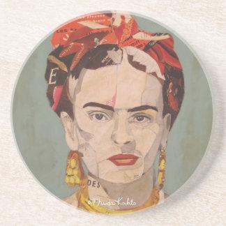 Retrato del en Coyoacán de Frida Kahlo Posavasos De Arenisca