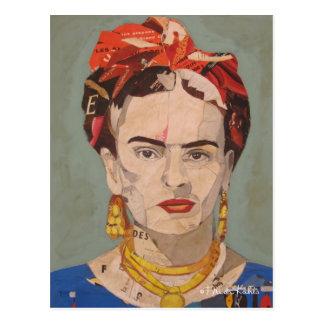 Retrato del en Coyoacán de Frida Kahlo Tarjetas Postales