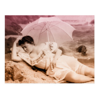 Retrato del encanto del vintage postales