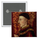 Retrato del Enrique V Pin Cuadrada 5 Cm