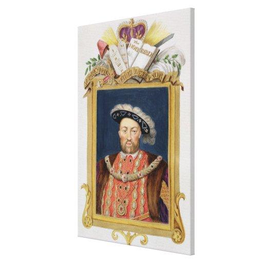 Retrato del Enrique VIII (1491-1547) como defensor Impresiones De Lienzo