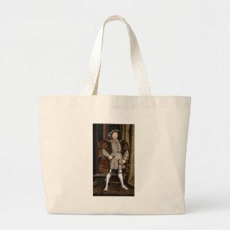 Retrato del Enrique VIII Bolsa Tela Grande