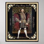 Retrato del Enrique VIII con los bordes enmarcados Poster