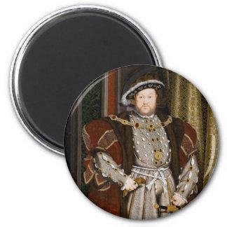 Retrato del Enrique VIII de Hans Holbein el más jo Imán Redondo 5 Cm