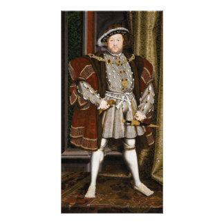 Retrato del Enrique VIII de Hans Holbein el más jo Tarjeta Fotografica