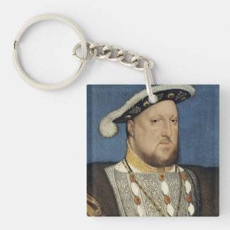 Retrato del Enrique VIII de Inglaterra de Hans Llavero Cuadrado Acrílico A Una Cara