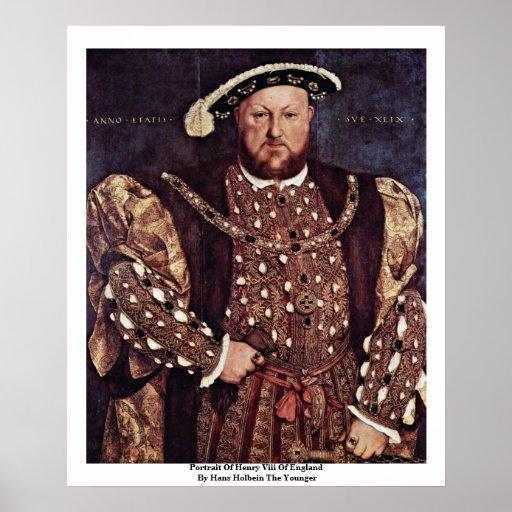 Retrato del Enrique VIII de Inglaterra Póster