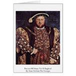 Retrato del Enrique VIII de Inglaterra Felicitación