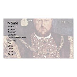 Retrato del Enrique VIII de Inglaterra Tarjeta De Visita