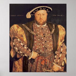 Retrato del Enrique VIII envejecido 49, 1540 Póster
