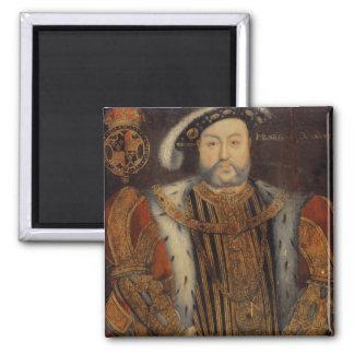 Retrato del Enrique VIII Imán Cuadrado
