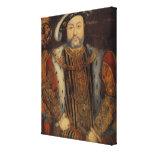 Retrato del Enrique VIII Impresión En Lienzo
