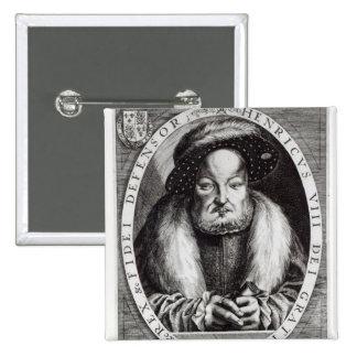 Retrato del Enrique VIII Pin Cuadrada 5 Cm
