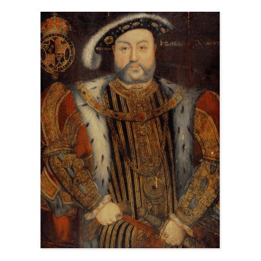 Retrato del Enrique VIII Postales