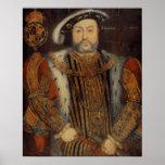 Retrato del Enrique VIII Póster