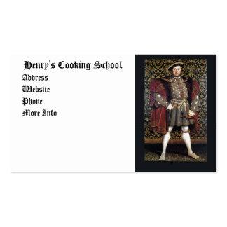 Retrato del Enrique VIII Plantillas De Tarjetas De Visita