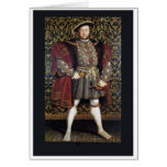 Retrato del Enrique VIII Tarjetón