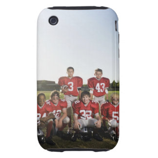Retrato del equipo de fútbol de la juventud en iPhone 3 tough carcasas