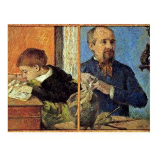 Retrato del escultor Aubé y de su hijo Postales