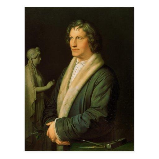 Retrato del escultor Bertel Thorvaldsen Postal