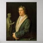 Retrato del escultor Bertel Thorvaldsen Póster
