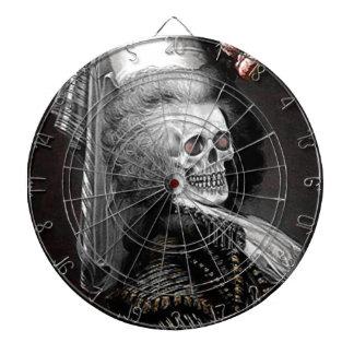 Retrato del espíritu necrófago de Halloween Tablero Dardos