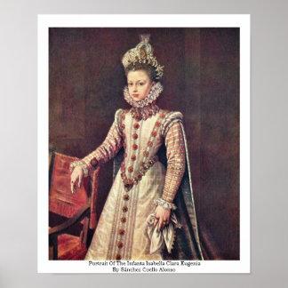 Retrato del Eugenia de Isabel Clara de la infanta Póster