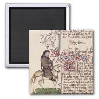 Retrato del facsímil de Geoffrey Chaucer de Imán Cuadrado