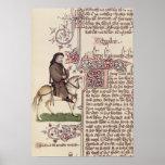 Retrato del facsímil de Geoffrey Chaucer de Impresiones